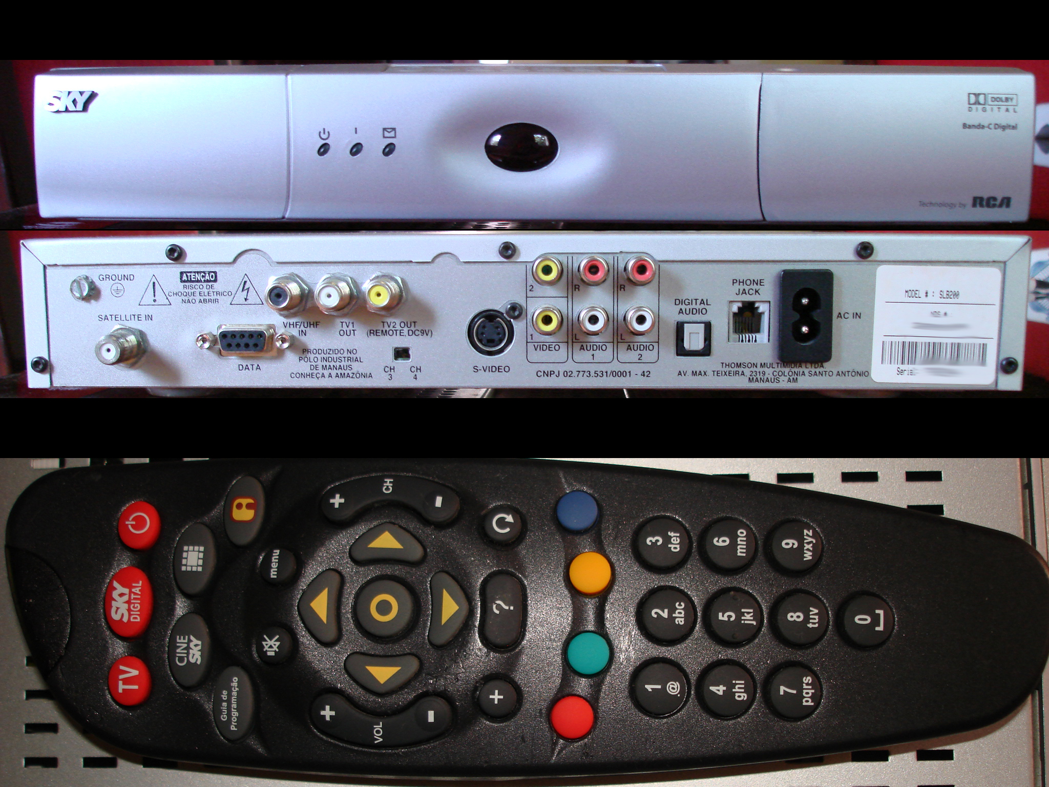 ... DIGITAL SLB200 (RCA, THOMSON com banda C digital – SKY Brasil