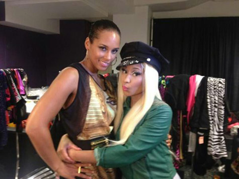 Alicia Keys com Nicki Minaj