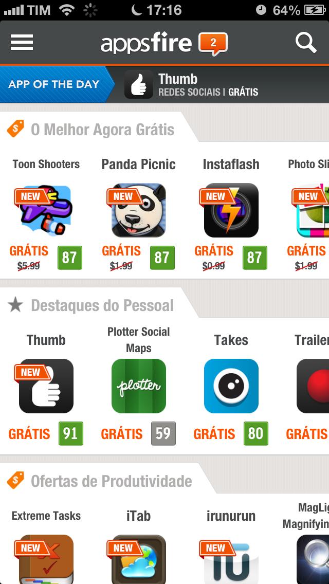 appsfire - disponibiliza App's pagos para serem baixados de forma gratuita