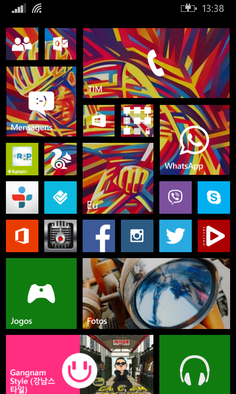 Tela Inicial - Nokia Lumia 520